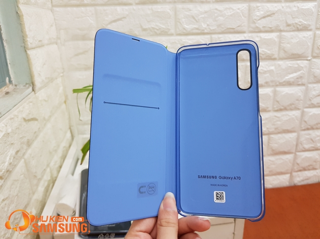 bao da wallet cover galaxy a70 chinh hang 2